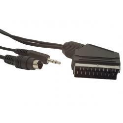 Kabel EURO/S-VIDEO+JACK 10M