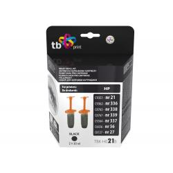 Zestaw TB Print TBK-H021B Black do napełniania wkładów HP: C9351- nr 21,C9362 - nr 336, C8765 - nr 3