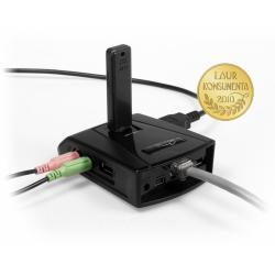 Hub 5 portow USB, kar. sieciowa, kar. dzwiekowa
