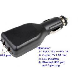 SAMOCHODOWA 2 x MINI USB 1A TELEFON NAVI WARSZAWA