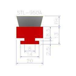 szczotka listwowa stl 950 A