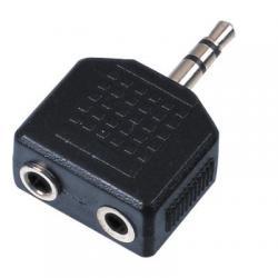 Adapter 2 x 6,3mm Jack F / 1 x 3,5mm Jack Stereo 223118