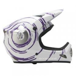 661 Kask EVOLUTION INSPIRAL biało purpurowy M