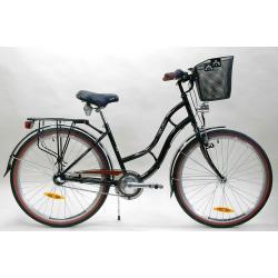 """Rower 26""""stal.damski RETRO Nexus3 w.eco czarny r.420"""