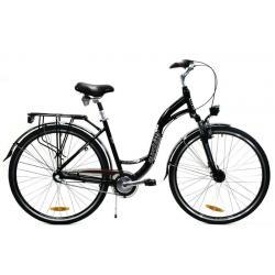 """Rower 28""""alu.damski Nexus3 czarny r.460 z prądnicą w piaście"""