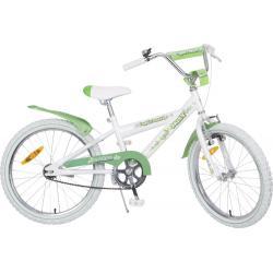 "Rower Accent DAISY single Hi-Ten 20"" biało-zielony wzór motyle"