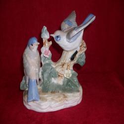 dwa porcelanowe ptaszki
