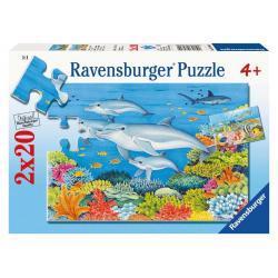 Puzzle Podwodny Świat 2 x 20 el. RAVENSBURGER 08980 Dwa Obrazki