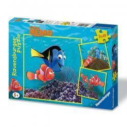 Puzzle 3 x 49 ravensburger 09203 Świat Nemo Trzy Obrazki