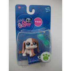 Pies Basset z Okularami  # 2096 Littlest Pet Shop LPS Hasbro