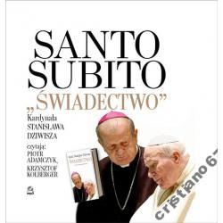 SANTO SUBITO ŚWIADECTWO 1CD MP3 Kardynał Dziwisz