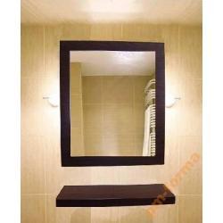 Lustro łazienkowe z półką  50/60cm  WENGE