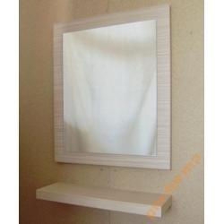Lustro łazienkowe z półką 50/60cm  ZEBRANO JASNE