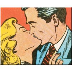 "obrazy nowoczesne ""retro pocałunek""  HIT Akryl"