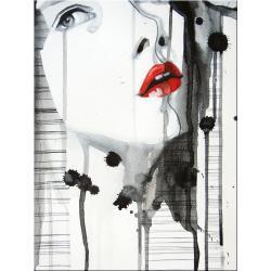 """obrazy nowoczesne """"red lips""""  HIT Akryl"""