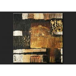 Obrazy do salonu - złoto-czarna abstrakcja Obrazki i obrazy