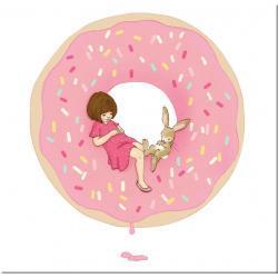słodki obraz dla słodkiej dziewczynki Akryl