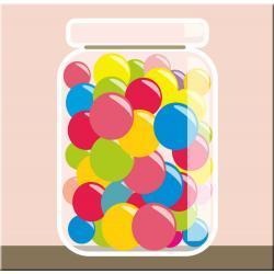 taki słoik kolorowych i pysznych gum kulek to marzenie każdego dziecka Akryl
