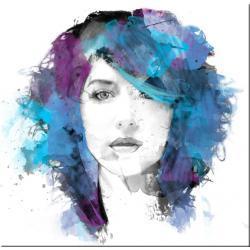 obraz nowoczesny o przedstawiający kobietę w akwareli Akryl
