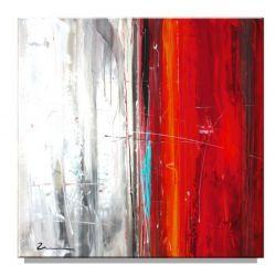 Obraz abstrakcyjny czerwono biały Obrazki i obrazy