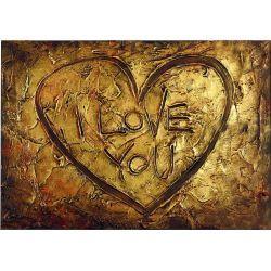 ręcznie malowany obraz z sercem