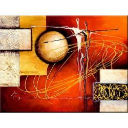 ręcznie malowany, grubo fakturowany obraz nowoczesny 90x80cm Akryl