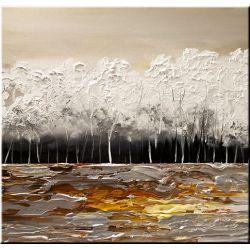 ręcznie malowany, grubo fakturowany obraz nowoczesny 80x80cm Akryl