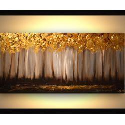 ręcznie malowany, grubo fakturowany obraz nowoczesny Akryl
