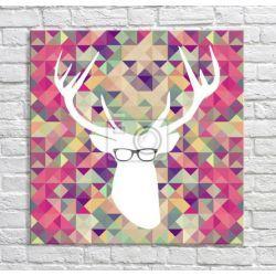 Modny jeleń hipster Akryl