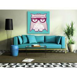 Obraz z modnym motywem hipsterkich zwierząt Akryl