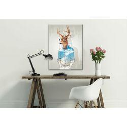 Modny obraz z motywem jelenia, fajny prezent dla szefa ;) Akryl