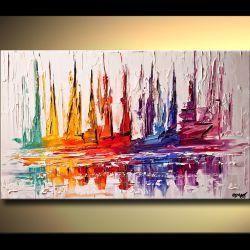 Fakturowane Jachty Akryl