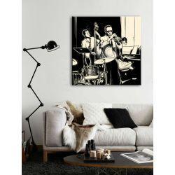Obrazy czarno białe z muzykami