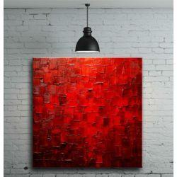 Obraz do salonu czerwony