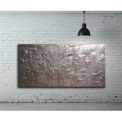 obrazy nowoczesne srebrne abstrakcyjne Akryl