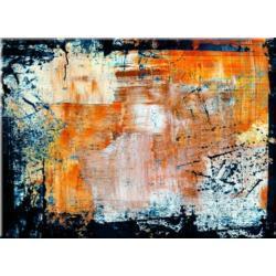 """obrazy nowoczesne """"rdzawa abstrakcja""""  120x150cm Antyki i Sztuka"""