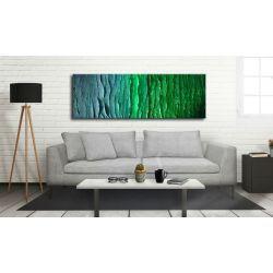 MALARSTWO ABSTRAKCYJNE obraz panoramiczny 150x50cm boki 4cm