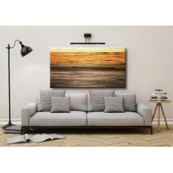 MALARSTWO ABSTRAKCYJNE obraz panoramiczny 120x60cm boki 4cm