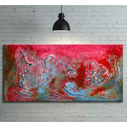 Mocne faktury - obraz na płótnie 60x120cm Akryl