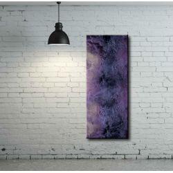 Obraz lawendowy. Podłużna dekoracja ścienna. Modna abstrakcja