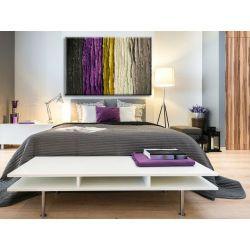 Obraz do salonu lub sypialni z fioletowym akcentem Akryl