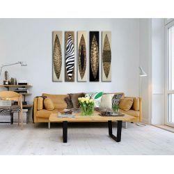 Obrazy do salonu w technice szpachelki malarskiej SAFARI Obrazki i obrazy