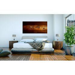 Obraz ręcznie malowany - miedziany 60x120cm