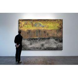 Bardzo duży wielki obraz z grubo nakładaną farbą 150x100cm Akryl