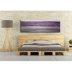 Obraz na ścianę z fioletem 150x50cm boki 4cm Akryl