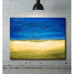 Obraz ręcznie malowany Plaża 70x100 Pozostałe