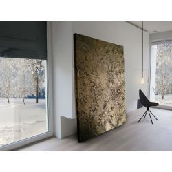Bardzo duży złoty obraz strukturalny na płótnie Obrazki i obrazy