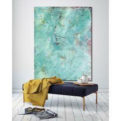 Duże obrazy do salonu w niebieskim odcieniu Akryl