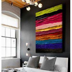 Obrazy ręcznie malowane z fakturą - nowoczesne kolory