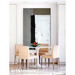 Malarstwo abstrakcyjne - duży obraz do salonu - gustowna geometria Antyki i Sztuka